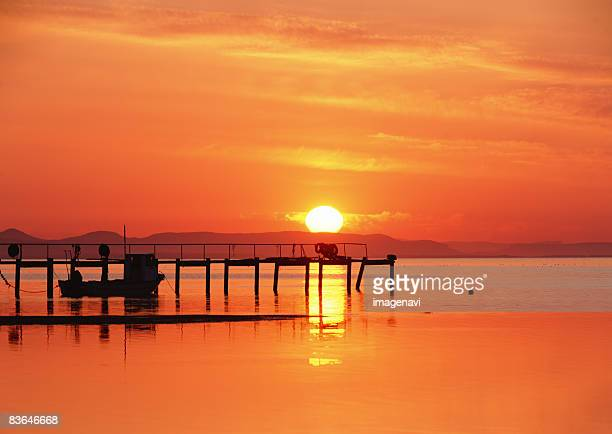 Sunset of Lake Saroma
