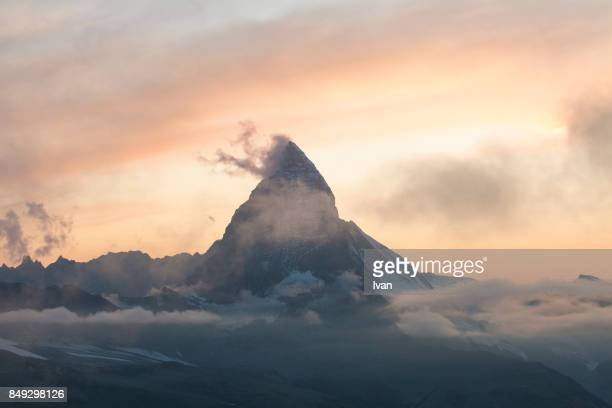Sunset of Matterhorn inSwitzerland