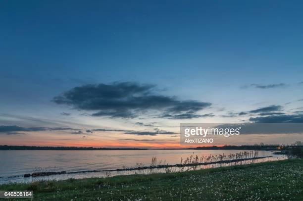 sunset of niagara river - buffalo new york state stock pictures, royalty-free photos & images