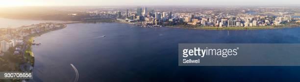 sunset of perth - perth australien stock-fotos und bilder