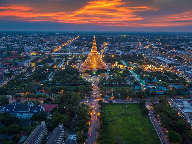 Sunset Of Phra Pathom Chedi Wall Art