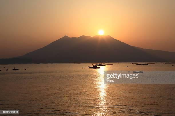 Sunset of Sakurajima, Tarumizu, Kagoshima, Japan