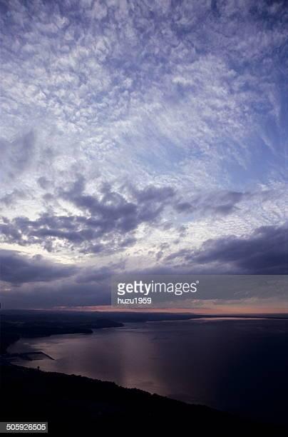 Sunset of Saroma Lake