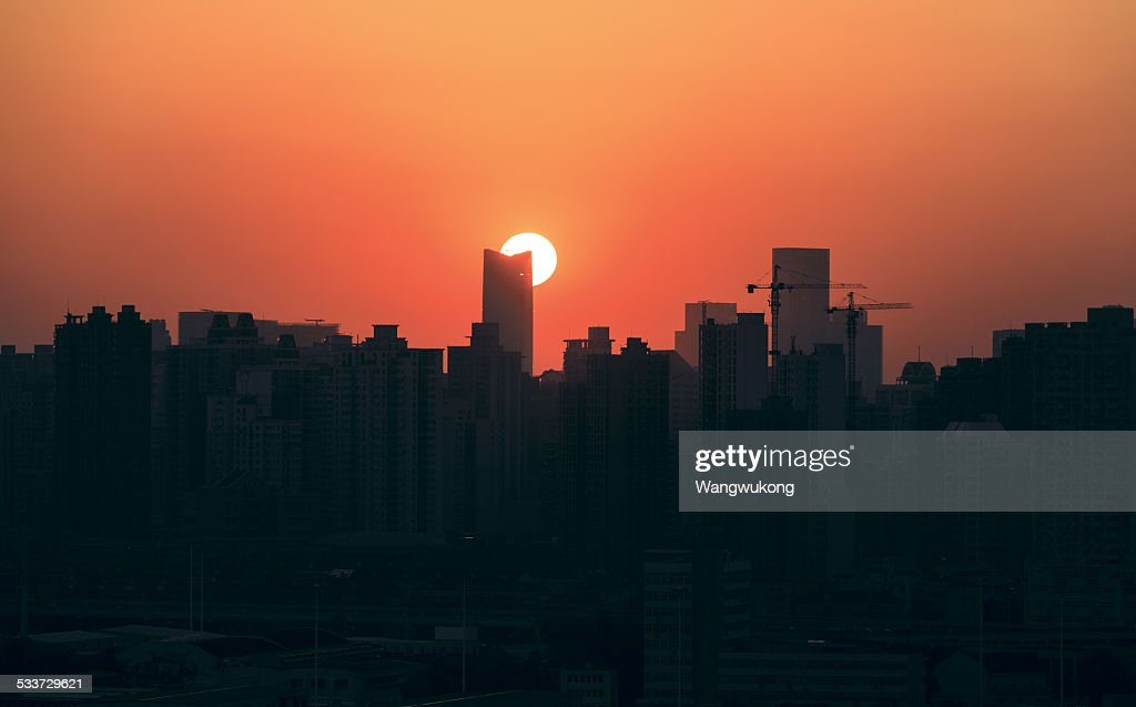 sunset of the city : Foto stock