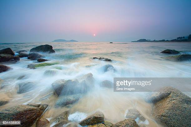 sunset of the sea,Hainan Province