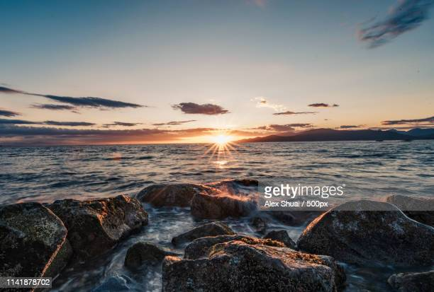 sunset of ubc - ubc stock pictures, royalty-free photos & images