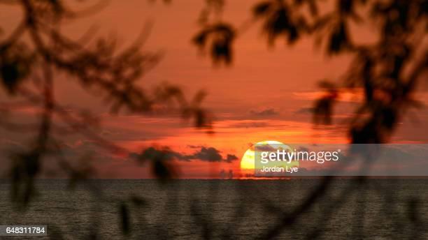 Sunset off Penang Island.