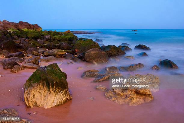 Sunset on a beach, Algarve, Portugal