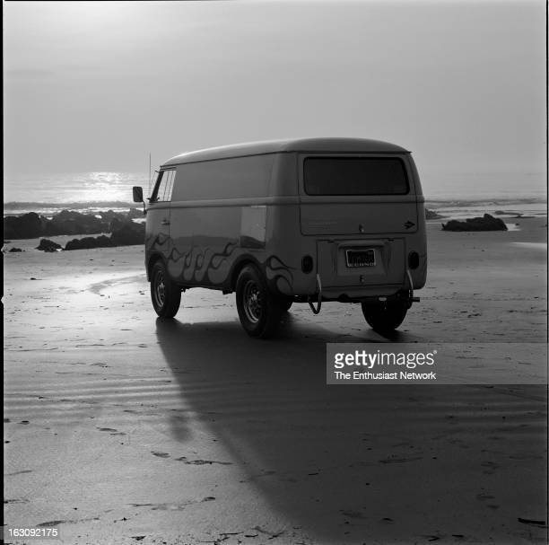 Sunset on a Southern California beach with the US Rubber Custom VW Volkswagen Bus