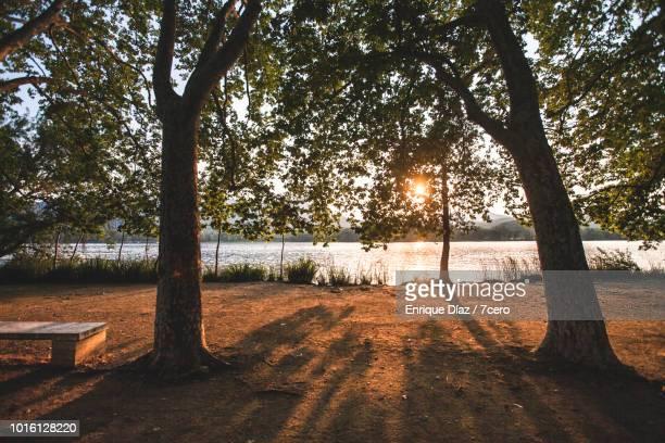 Sunset on Banyoles Lake