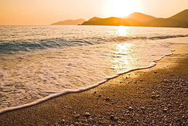 Sunset On Beach, Oludeniz, Fethiye, Turkey Wall Art