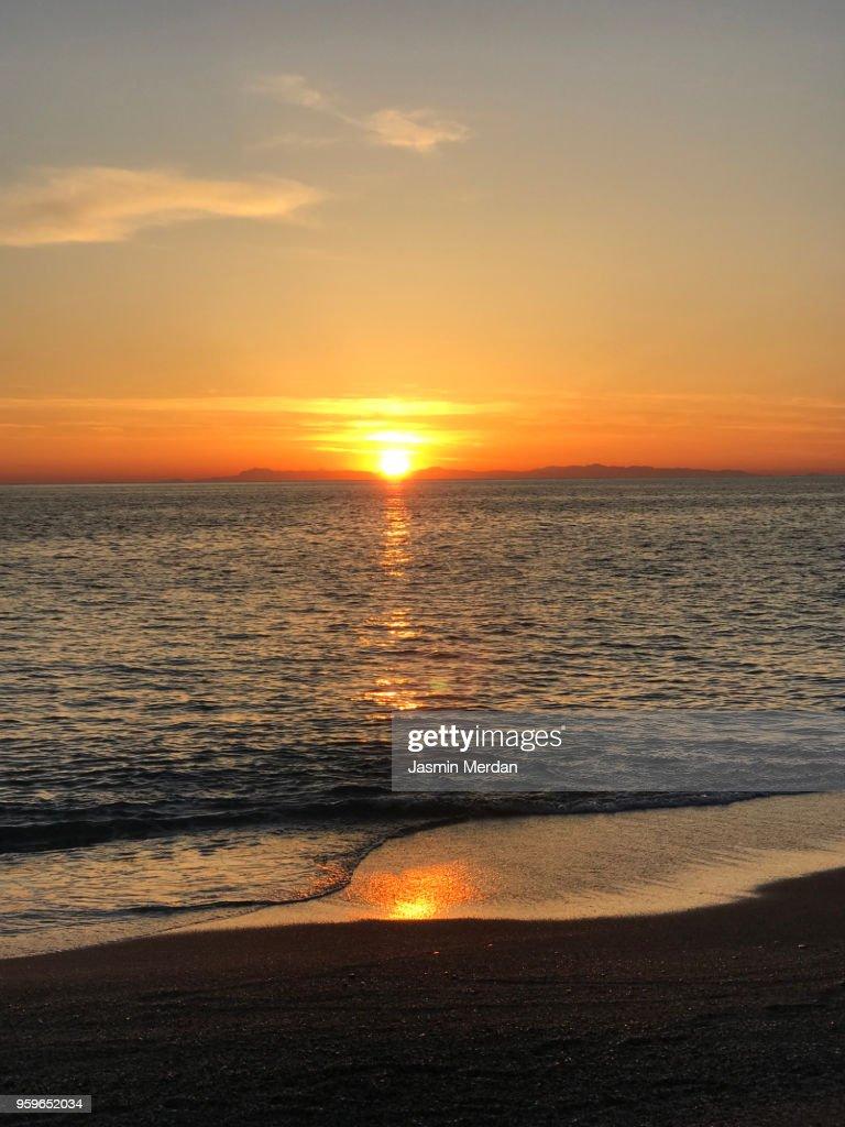 Sunset on beach : Stock-Foto