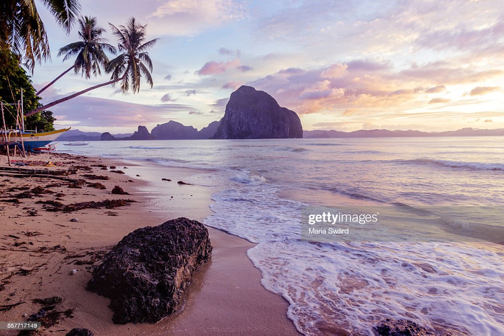 Sunset on beautiful Palawan, Philippines : Stock Photo