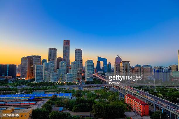 Sunset on Beijing CBD