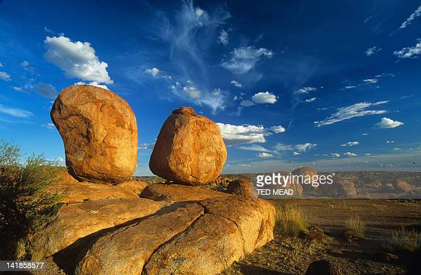 Sunset on boulders in the Devils Marbles Conservation area, Northern Territory, Australia