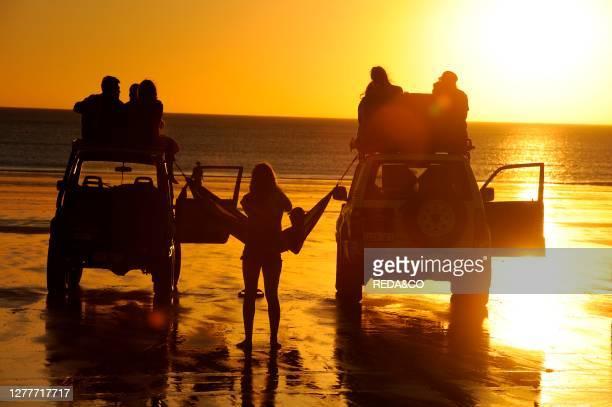 Sunset on Cable Beach at Broome, Kimberley Coast, Western Australia.