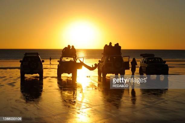 Sunset on Cable Beach at Broome. Kimberley Coast. Western Australia.