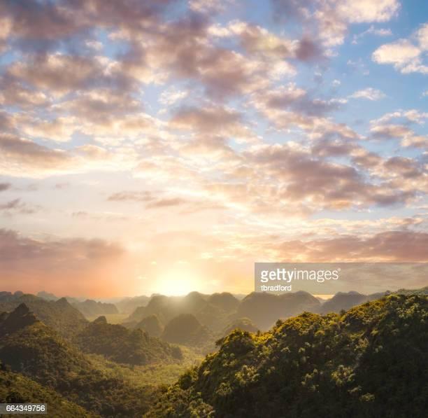 Sunset On Cat Ba Island In Halong Bay, Vietnam