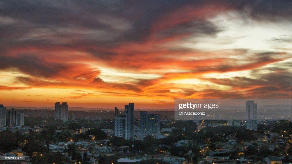 Sunset on fire : Stock Photo