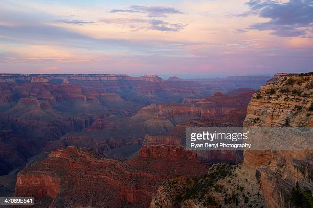 Sunset on Grand Canyon from south rim, Nevada, USA