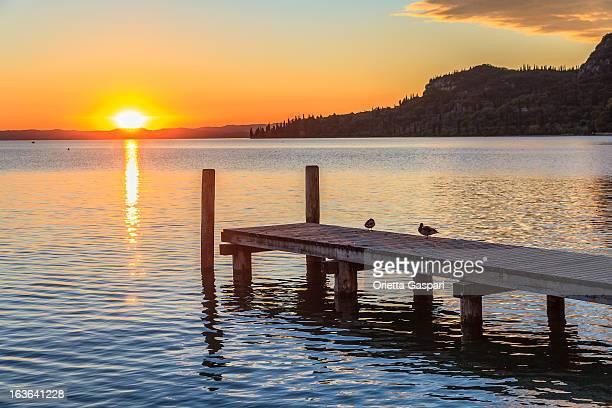 Tramonto sul Lago di Garda, Italia