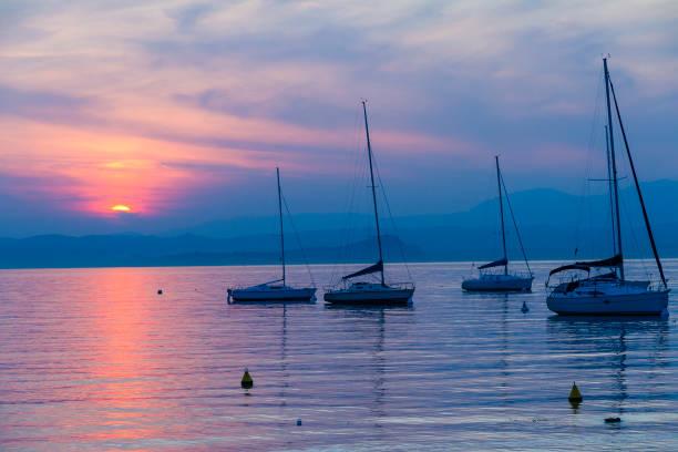 Sunset On Lake Garda, Italy Wall Art