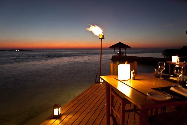 Sunset on Maldives