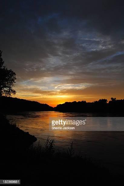 Sunset on Missouri River