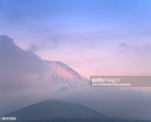Sunset on Mt.fuji with cloudy , Yamanashi , Japan