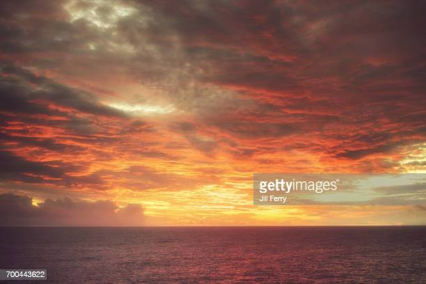 sunset on niue island - american samoa stock pictures, royalty-free photos & images