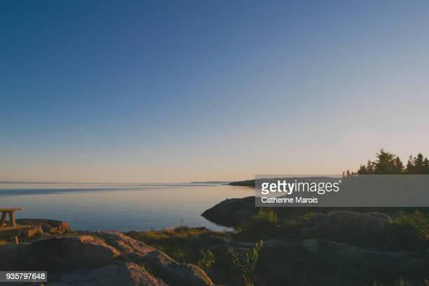 Sunset on Saint-Lawrence River