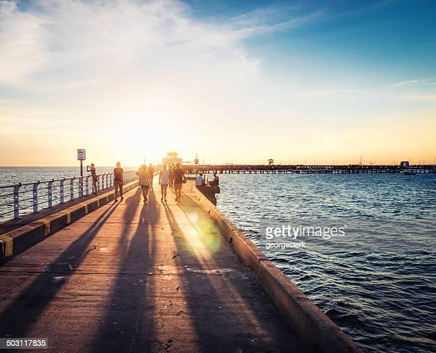 Sunset on St Kilda Pier