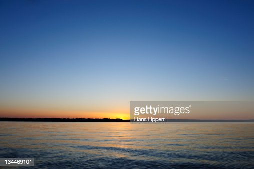 Geese In The Sunset On Starnberger See Or Lake Starnberg In Ambach ...