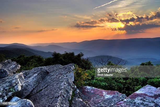 Sunset on the Appalachian Trail, Wind Rock, Southwest Virginia