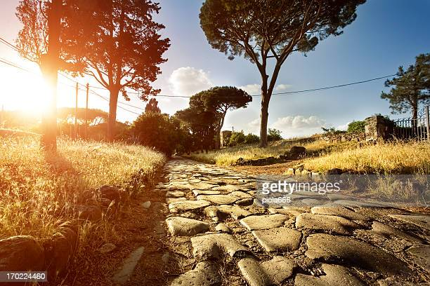 Sunset on the Appian way