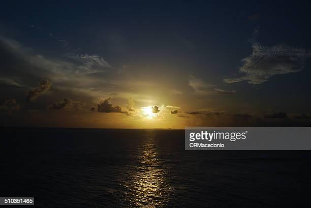sunset on the baia de todos os santos. - crmacedonio stockfoto's en -beelden