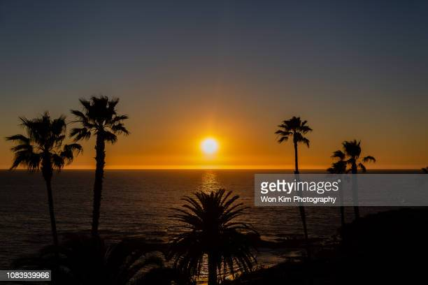 sunset on the beach - laguna beach california stock pictures, royalty-free photos & images