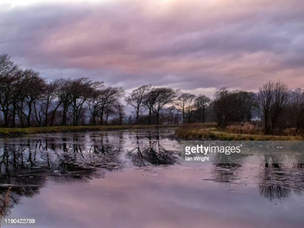 sunset on the caledonian canal - moment of silence stock pictures, royalty-free photos & images