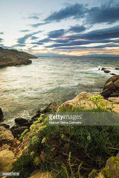 Sunset on the cliffs of the Costa Brava