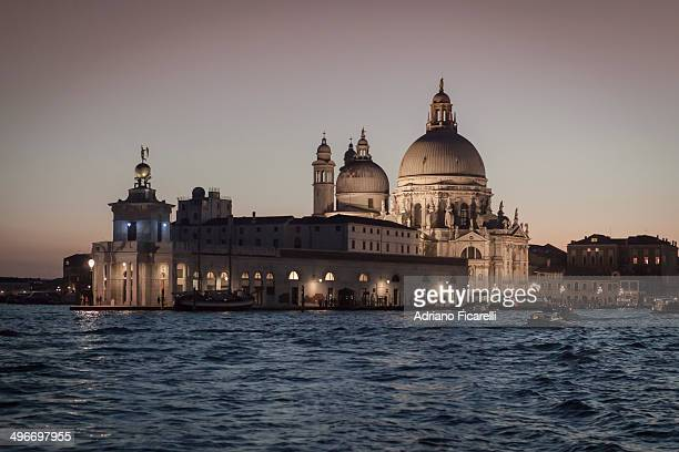 sunset on the gran canal - adriano ficarelli stock pictures, royalty-free photos & images