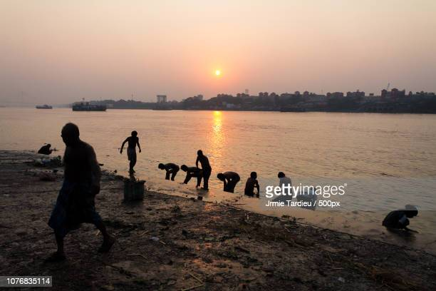 Sunset on the Hooghly river - Kolkata