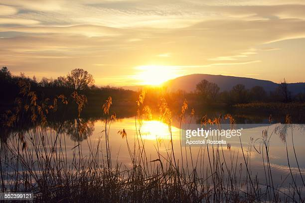 Sunset on the Iseo Lake