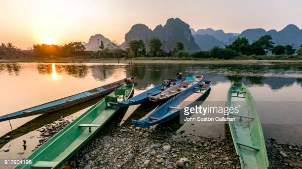 Sunset on the Nam Song River