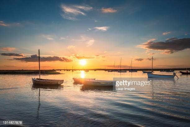 Sunset on the North Norfolk coast.