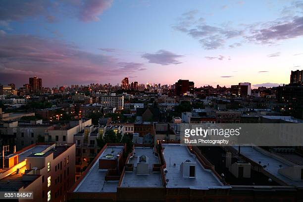 Sunset on the roofs of Harlem
