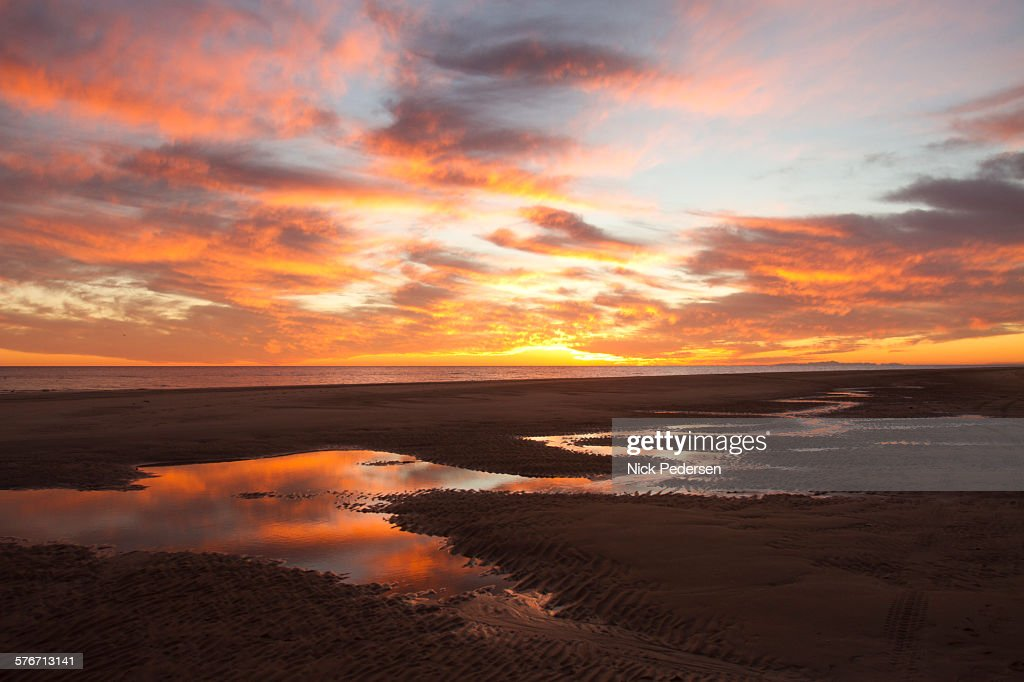 reputable site d4d4b 95a8e Sunset on the Sea of Cortez   Stock Photo