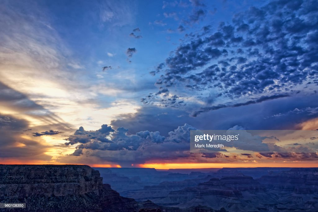 Sunset on the South Rim of the Grand Canyon : Stock-Foto