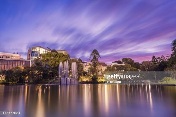 sunset on the university of queensland - queensland stock pictures, royalty-free photos & images