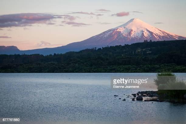 Sunset on the volcano, Villarica, Chile, 2013