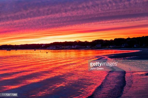 Sunset on Wellfleet Harbor Cape Cod Massachusetts USA dusk dawn